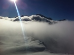 Mount Pourri above the clouds