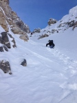 Bootpacking up the couloir